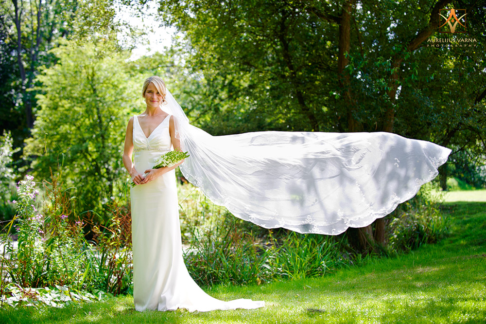 Contemporary essex wedding photography, bride with amazing dress