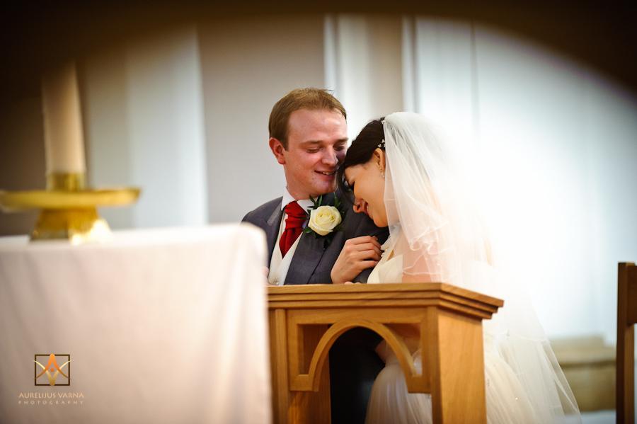 bride hugs the groom