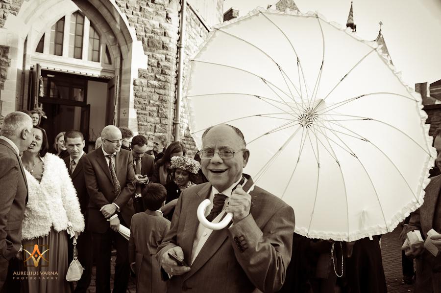 bride's umbrella