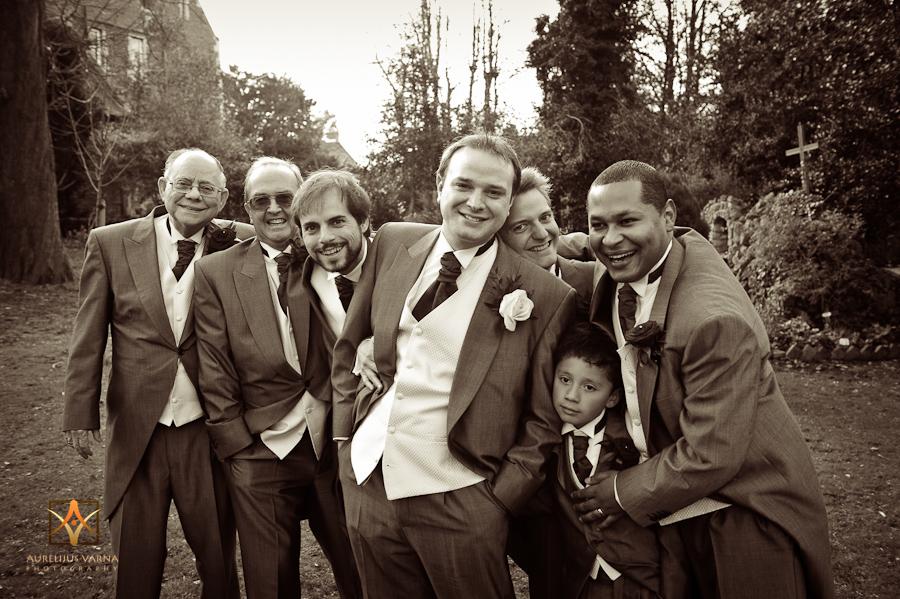groom with the boys