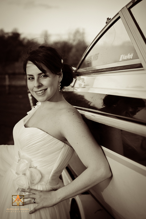 bride by the boat